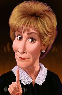 Judge Judy -  h. edward brooks celebrities, caricature, portrait and sports…