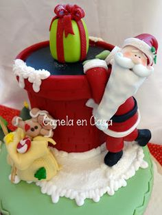 Cakes - Christmas Cookies and modeling Christmas Pasta, Polymer Clay Christmas, Christmas Sweets, Christmas Deco, Christmas Projects, Christmas Humor, Winter Christmas, Christmas Cookies, Christmas Ornaments