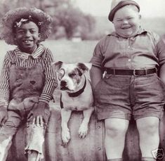 Petey! And two Little Rascals--I remember seeing these old, old black & white reruns once in a while