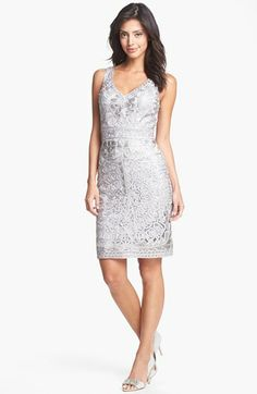 Sue Wong Embroidered Lace Sheath Dress available at #Nordstrom