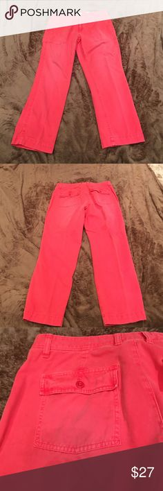 J Crew Capris J Crew Capris...favorite fit.  Back pockets have flap with button closure.  Great condition and smoke free home! J. Crew Pants Capris