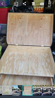 I could build that! Giant Shoe Box Storage, Storage Boxes, Butcher Block Cutting Board, Bamboo Cutting Board, Sneaker Storage, Ikea, Palette, Diy Art Projects, Diy Box