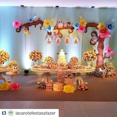 Decoración para fiesta con temática de búhos http://tutusparafiestas.com/decoracion-fiestas-tematica-buhos/ Owl themed party decoration #Cumpleaños #Decoraciónconbuhos #Decoracióndecumpleaños #Decoraciondefiestas #Decoraciónparafiestascontemáticadebuhos #Fiestadebuhos
