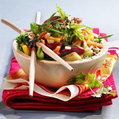 Wok de légumes asiatiques aux gésiers confits