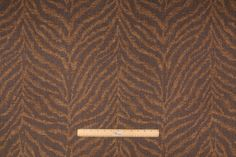 6.7 Yards Animal Stripe Upholstery Fabric in Gold/Charcoal