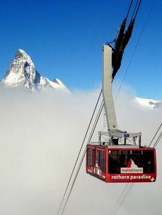 télépherique. Switzerland's Matterhorn.