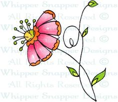 Mini Mod Pod - Whimsical - Floral/Garden - Rubber Stamps - Shop