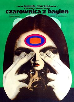 Vintage-Polish-Posters_Ryszard_Kiwerski_Czarownica-Z-Bagien. Polish Movie Posters, Polish Films, Graphic Design Posters, Graphic Design Illustration, Circus Poster, Psy Art, Grafik Design, Illustrations And Posters, Cover Art