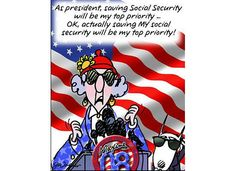 Voting for President...MAXINE!  social security