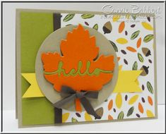 Leaflet framelits, Inlaid Words, fall, Into the Woods, leaves, Stampin' Up!, #stampinup, created by Connie Babbert, www.inkspiredtreasures.com