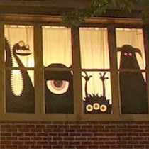 Wilker Do's: 12 Easy DIY Halloween Decorations...Kate, would be cute for your dorm window or the boys apartment :)