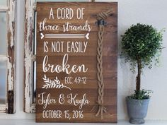 A cord of three strands is not easily broken. by AmandaGdesigns