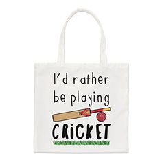 I'D Rather Be Playing Cricket Small Tote Bag