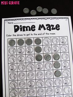 Teaching Money Ideas - Dime Maze and so many other fun money games and coin activities for kids