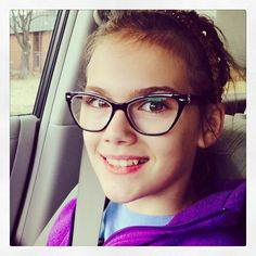 Biggest big beauty in her $16 #zenni glasses! She prefers glasses to contacts #zennioptical