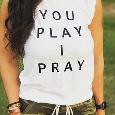 Sports Mom Shirt | You Play I Pray | We help sports moms wear and share their faith. Learn more at youplayipray.com #Regram via @CCvmqKlhxvu Volleyball Mom Shirts, Sports Mom Shirts, T Shirts For Women, Baseball Mom, Football, White Tees, Vintage Tops, Pray, Soccer