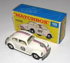 Matchbox Series 15 - Volkswagen 1500 Saloon Herbie the Love Bug Model Racing Car Vw Vintage, Vintage Design, Vintage Toys, Corgi Toys, Matchbox Cars, Metal Toys, Hot Wheels Cars, Classic Toys, Antique Toys