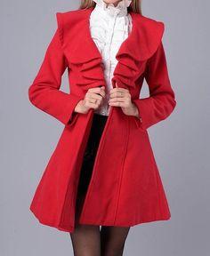 Black Wool Coat outwear Jacket Fall Spring by eileenboutique, $65.99