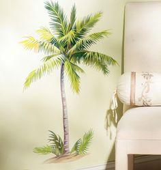Palm tree mural