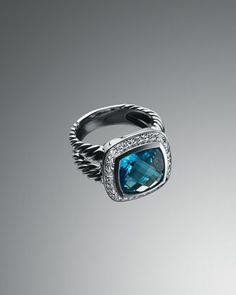 Albion Ring, Blue Topaz, 14mm - Neiman Marcus. David Yurman ring