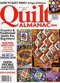 Asian Kamon Quilt is still one of my favorites. Quilt Almanac was our once a year pattern packed magazine.