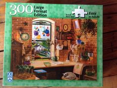 FX Schmid Large Format 300 Piece Jigsaw Puzzle Room With A View Cats Complete    eBay