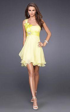 jolki krátké společenské šaty žluté koktejlky - plesové šaty ...