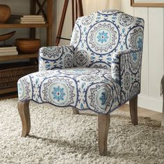 Linon & Linon Rug Event Teena Suzani Arm Chair