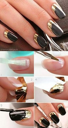 Get The Look – The Moon Manicure with Gold Leaf