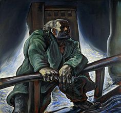 """Peter Howson, """"The Heroic Dosser"""", Oil on Canvas, x cm. Peter Howson, Building Images, Art Uk, Artist Names, Your Paintings, Contemporary Paintings, Oil On Canvas, Screen Printing, Graffiti"""