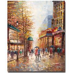 French Street Scene Canvas Print