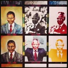 The many faces of one great man.  Nelson Mandela