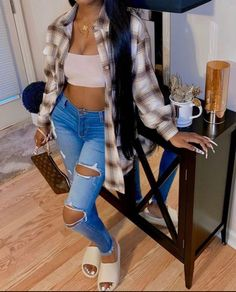 Boujee Outfits, Baddie Outfits Casual, Cute Swag Outfits, Dope Outfits, Teen Fashion Outfits, Trendy Outfits, Teenage Girl Outfits, Black Girl Fashion, Swagg
