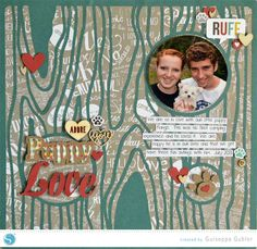 Silhouette America Blog | Scrapbooking Layout | Tutorial: Inserting a Shape into a Design