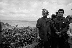 Muhammad Ali and President Mobutu Sese Seko by A. Abbas, Kinshasa, 1974