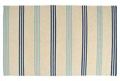 Axelia Dhurrie, Beige/Blue on OneKingsLane.com