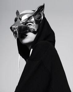 Yo-Landi Visser - Die Antwoord by Pierre Debusschere for Dazed Pierre Debusschere, Character Inspiration, Character Design, Wolf Mask, Die Antwoord, Cool Masks, The Villain, Masquerade, Geisha