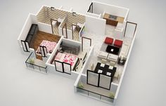 25 House Plans with Two Bed Rooms   House Plans