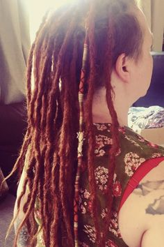 Hair wraps add a bit of colour & flair to dread extensions