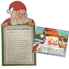 Student apply for a job at Santa's workshop after reading how Santa got his job. So fun!