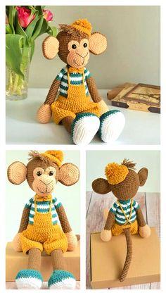 Diy Doll Pattern, Crochet Monkey Pattern, Crochet Baby Blanket Free Pattern, Crochet Cow, Crochet Animal Amigurumi, Crochet Dolls Free Patterns, Crochet Baby Toys, Christmas Crochet Patterns, Amigurumi Patterns