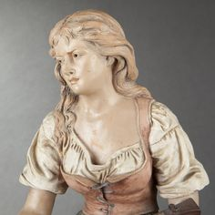 Joseph LE GULUCHE. Mignon or Lady with Mandolin #expertissim #sculptures