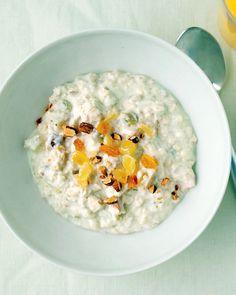 Tropical Muesli - Martha Stewart Recipes  Make it overnight in the fridge! Perfect.