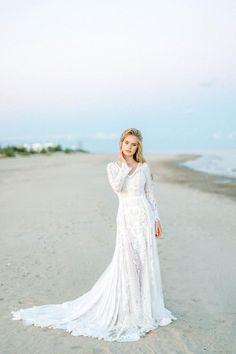 d646f062f4 Amazing Long Sleeve bohemian wedding dress boho wedding