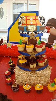Western Sheriff / Cowboy/ Woody  Toy Story Cupcake toppers!   www.HauteTart.Etsy.com