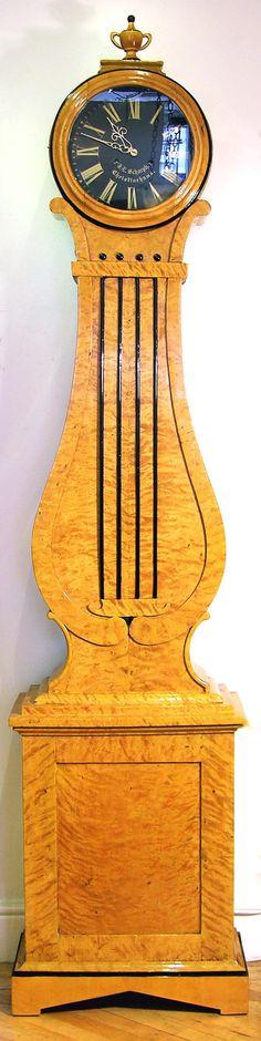 Biedermeier Longcase clock, c.1830 Swedish, Birchwood. rupertcavendish.co.uk