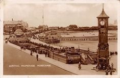The clock tower depicted in a postcard posted in Glasgow, Edinburgh, Morecambe, Old Photographs, Seaside Towns, Blackpool, North West, Dublin, Paris Skyline