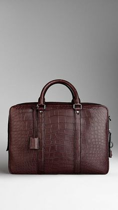 Alligator Skin Briefcase | Burberry
