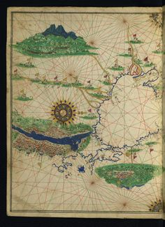 All sizes | Illuminated Manuscript, Maritime atlas, Walters Art Museum Ms. W.660, fol.9a | Flickr - Photo Sharing!
