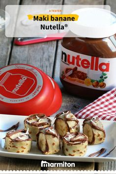Maki banane Nutella®️ #nutella  #recette